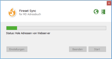 Fireset Sync for MD Adressbuch